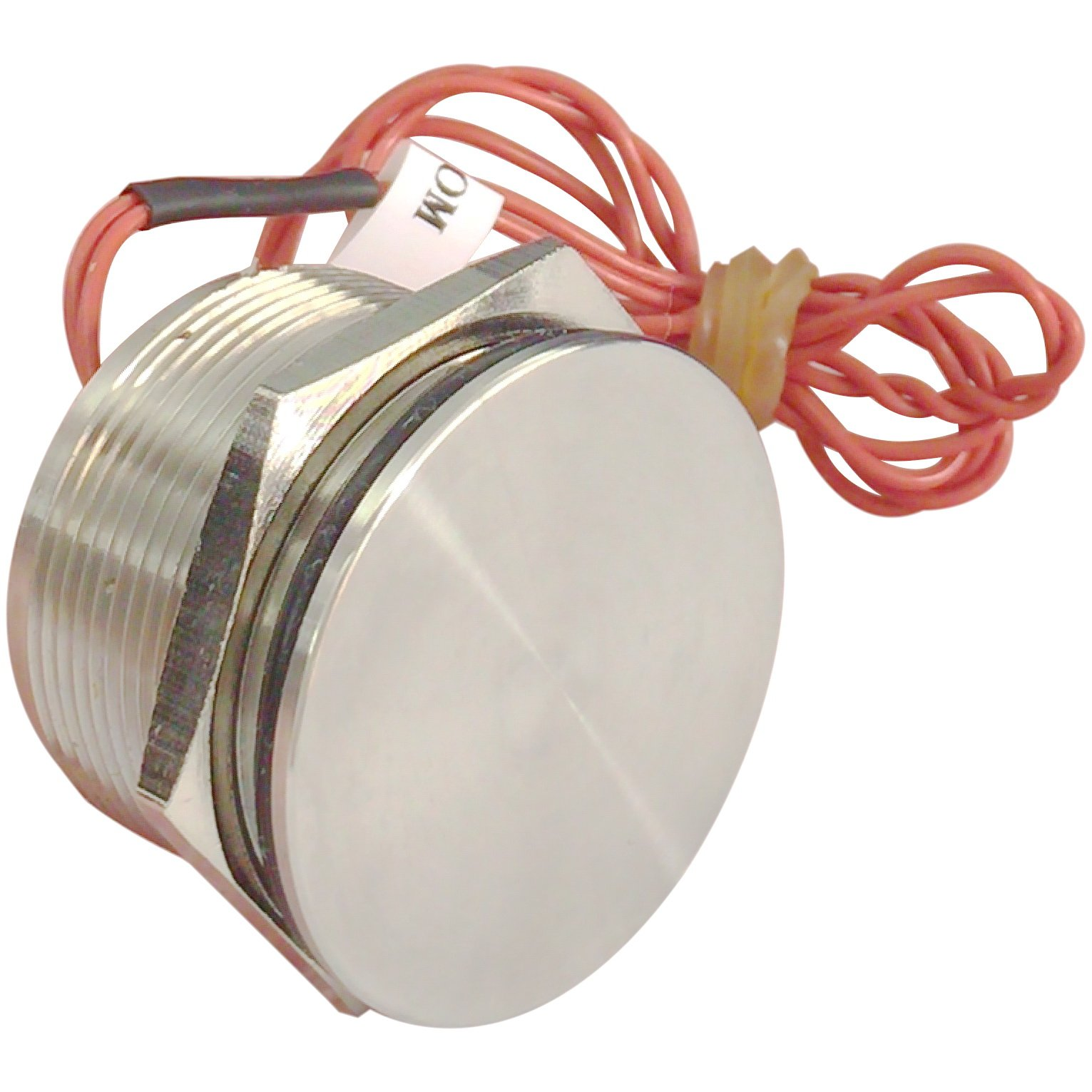 Generic 25mm Stainless Steel Momentary Piezo Switch with Flat Head