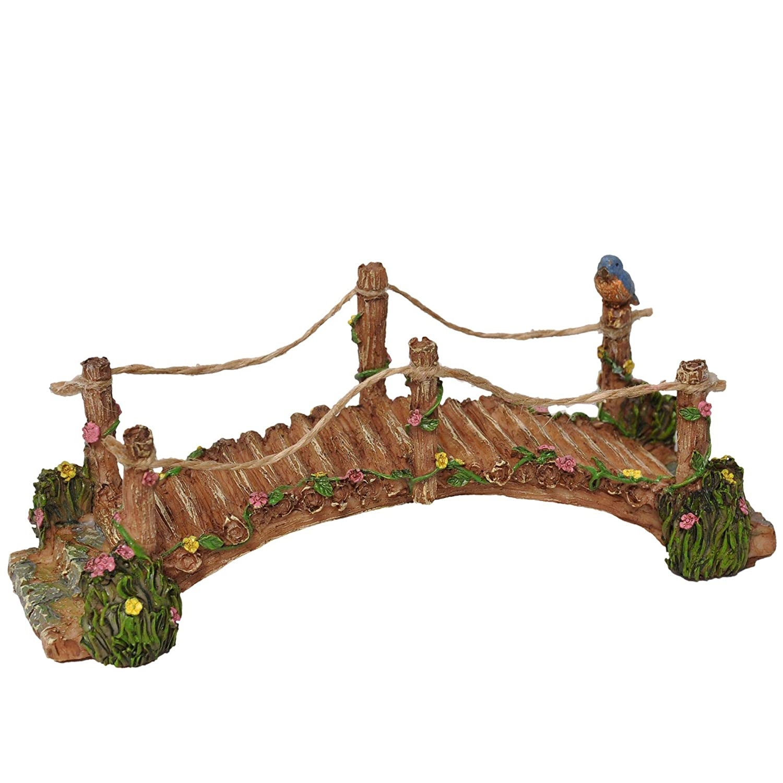 "Miniature Fairy Garden ""Blue bird Bridge"" Mg281"