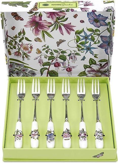 1 x 1 x 15 cm Multicolor Portmeirion Home /& Gifts 12 Tenedores y cucharas de t/é Porcelana