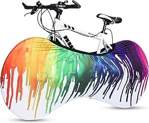 RUNACC Bike Wheel Cover, Washable Elastic Anti-dust Bike Indoor Storage Bag for Mountain, Road, MTB Bikes