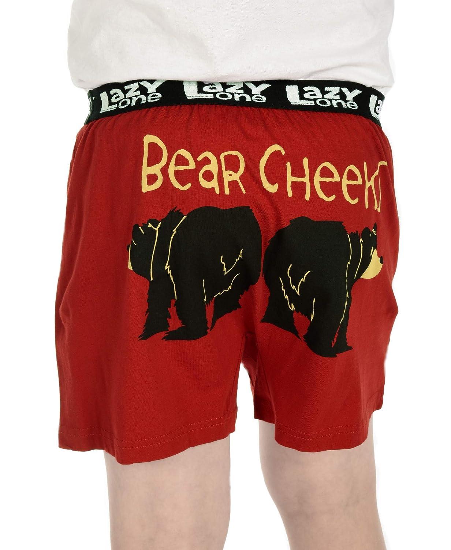 Medium Kids Comical Underwear Bear Cheeks Boys Funny Animal Boxers by LazyOne