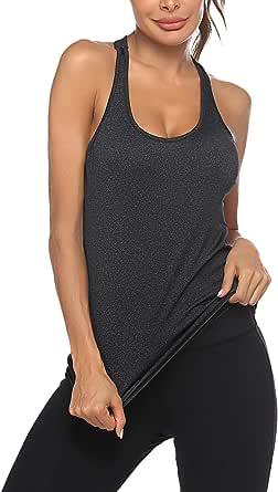 ADOME Women Workout Tank Tops Crop Top Sleeveless Yoga Sport