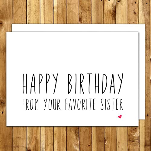 Amazon Funny Birthday Card For Brother From Your Favorite