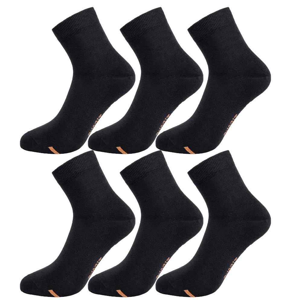 Tisoks 6 Pairs Black Unisex Titanium Antifunal No Odor Sweat Wick Short Sock for Athletes Feet by Tisoks