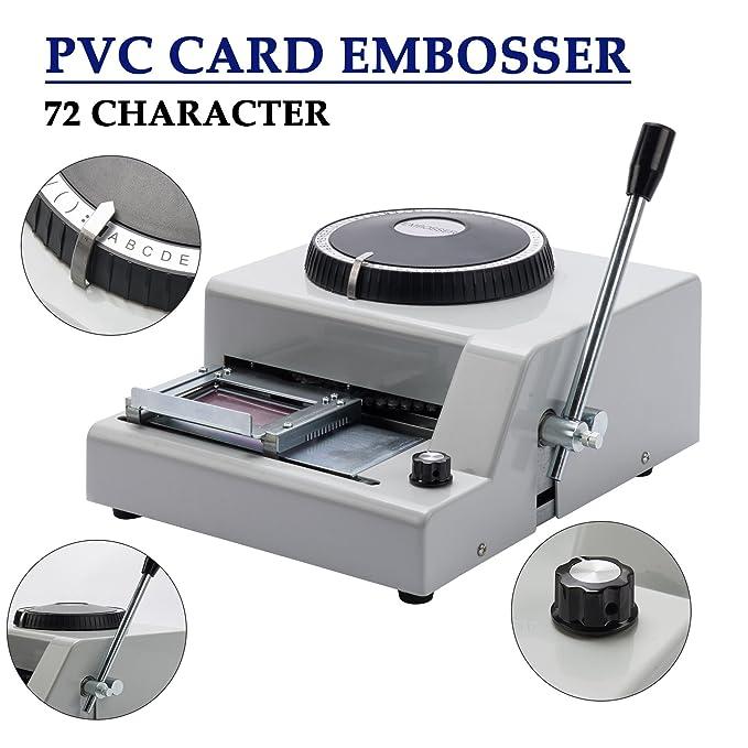 Amazon.com: CO-Z 72-Character - Estampado de tarjeta de PVC ...