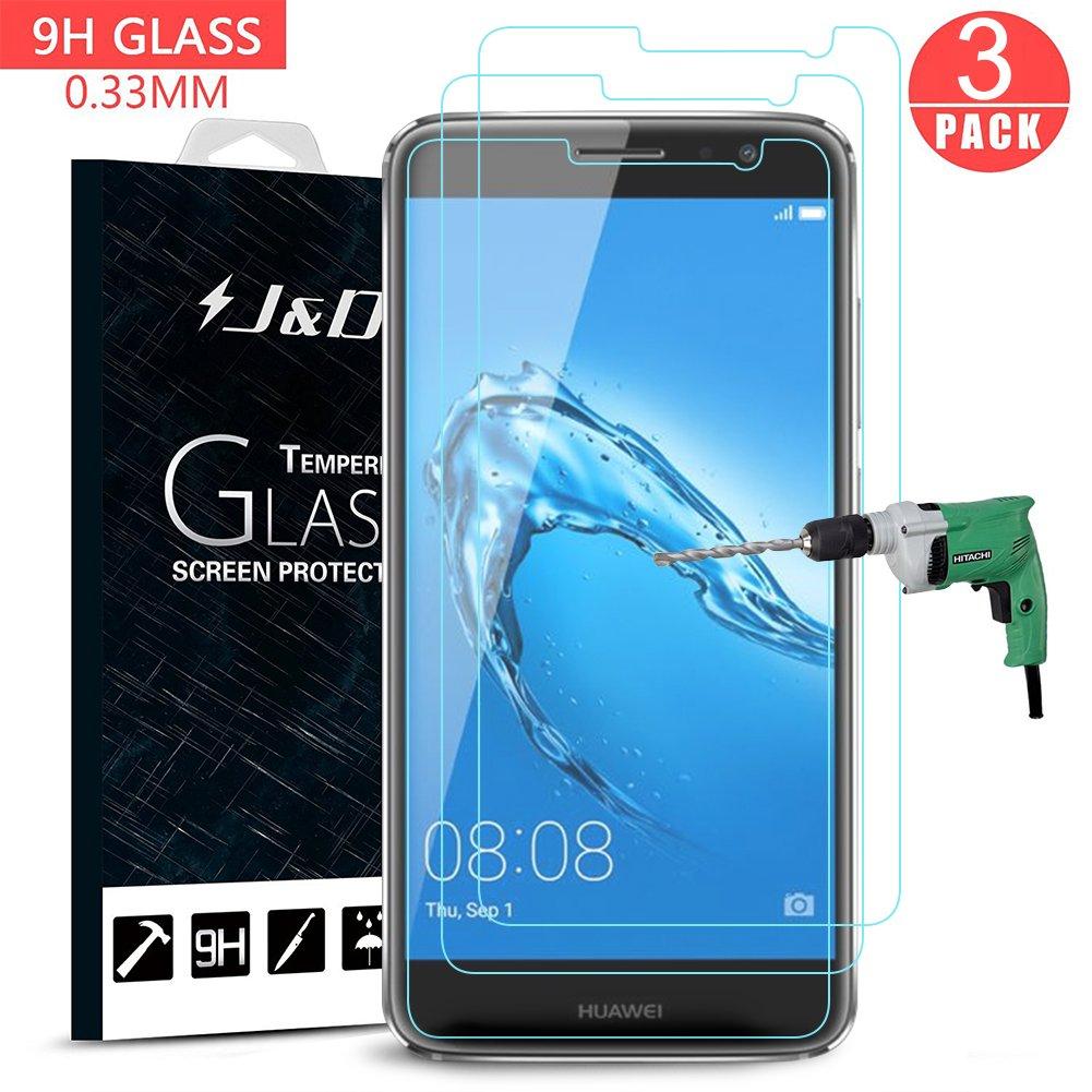 Huawei Nova Plus Protector de Pantalla (3 Paquetes), J&D [Cristal Templado]  · igadgitz Negro Funda ...