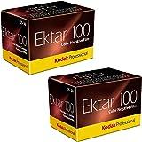 Kodak Ektar 100 Professional ISO 100, 35mm, 36 Exposures, Color Negative Film 2-Pack
