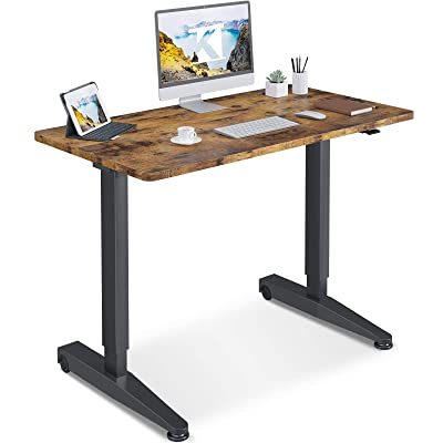Buy Odk Pneumatic Standing Desk Adjustable Height 48 X 24 Airlift Power Free Sit Stand Desk For Home Office Mobile Sturdy Computer Desk Instant Adjustment Assembly In 5 Mins Vintage Online