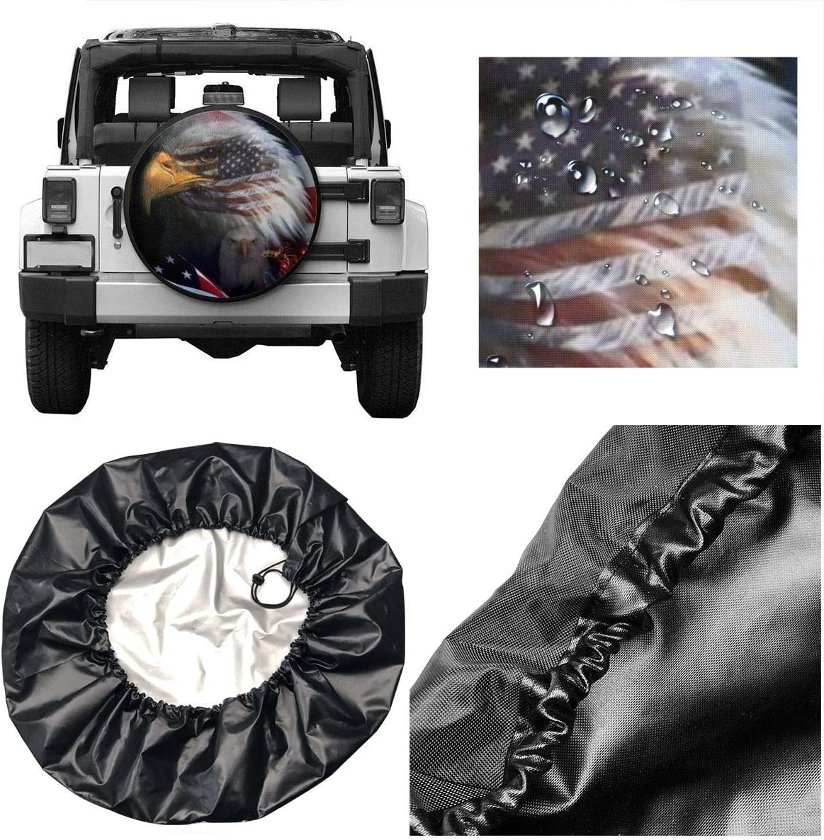 Foruidea Sunset Mountain Fog Landscape Spare Tire Cover Waterproof Dust-Proof UV Sun Wheel Tire Cover Fit for Jeep,Trailer RV SUV and Many Vehicle 15 Inch