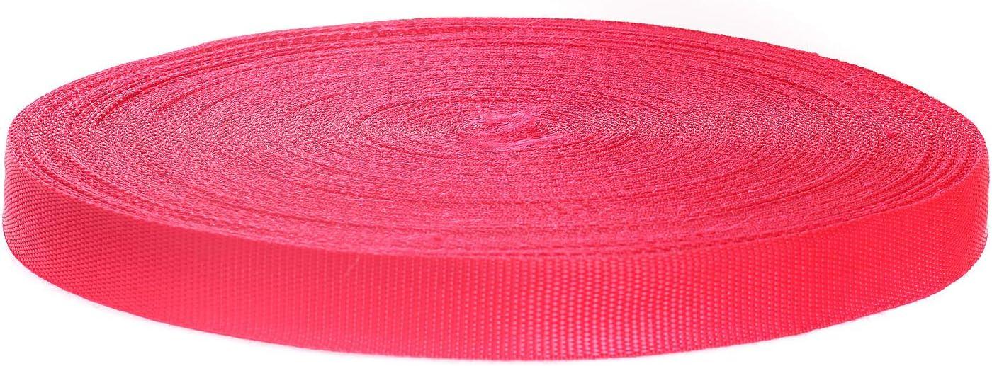 50 Metros x 25mm Correa de Correas de Polipropileno - 1,4mm Espesor - Multiusos PP Cinta para Bricolaje Craft Mochila Flejes Delantal Bolsas, Rojo TKB5070 Red