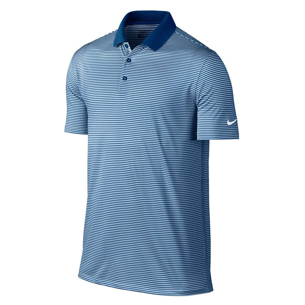 Nike Victory Mini Stripe Golf Polo 2017 Blue Jay/Hydrogen Blue/White Small