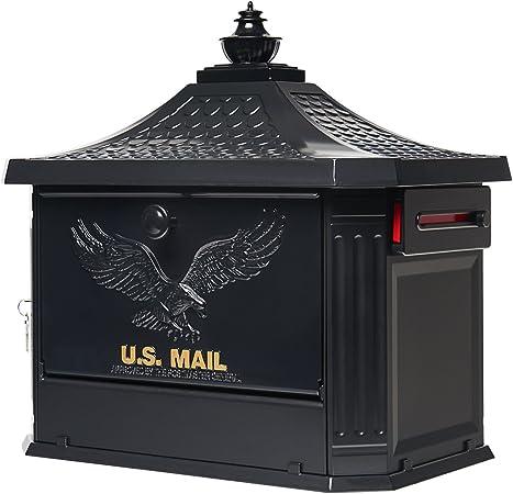 Black Aluminum Mailbox Post Stand Gibraltar Mailboxes Landover Durable Mount