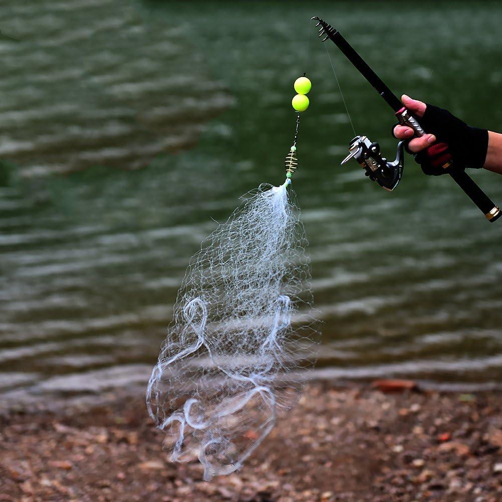 5 Malla VORCOOL Red de Reemplazo de Pesca Red de Cast Trampa de Cebo Ca/ña de Pesca