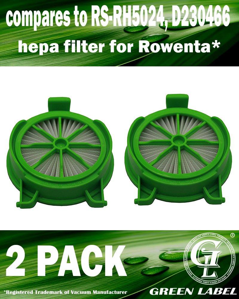 alternativa a RS-RH5024 e D230466 Filtri HEPA per gli aspirapolveri Rowenta Powerline Confezione da 2