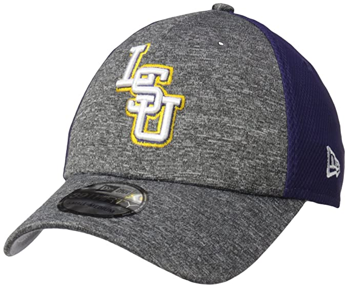 promo code 8569e 84ba2 New Era NCAA LSU Tigers Adult Shadow Blocker 39THIRTY Stretch Fit Cap,  Large X