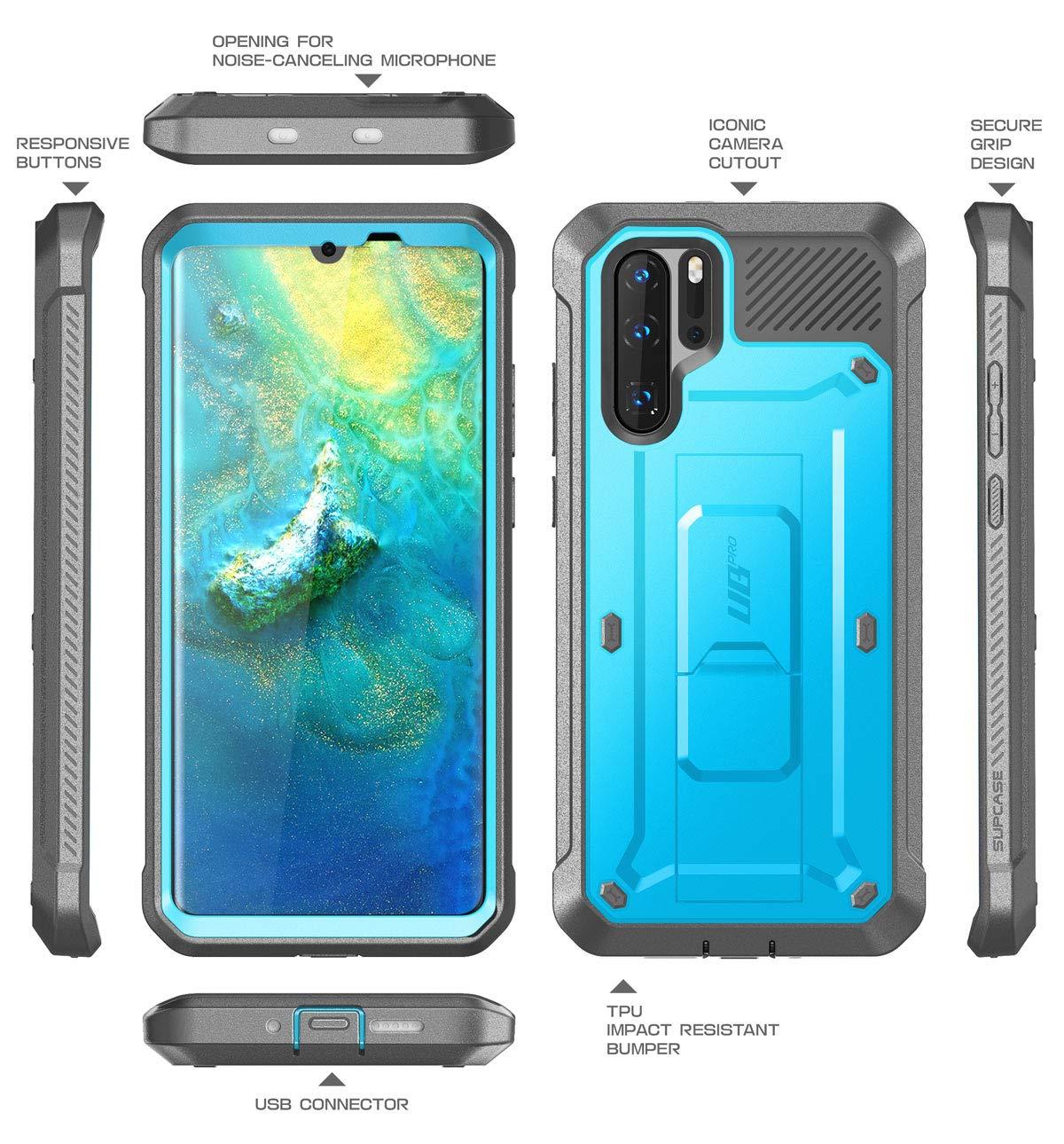Noir pour Huawei P30 Pro 2019 6,47 Pouces SupCase Coque Huawei P30 Pro Unicorn Beetle Pro Coque Int/égrale de Protection Robuste Anti-Choc avec Protecteur d/écran Int/égr/é et B/équille