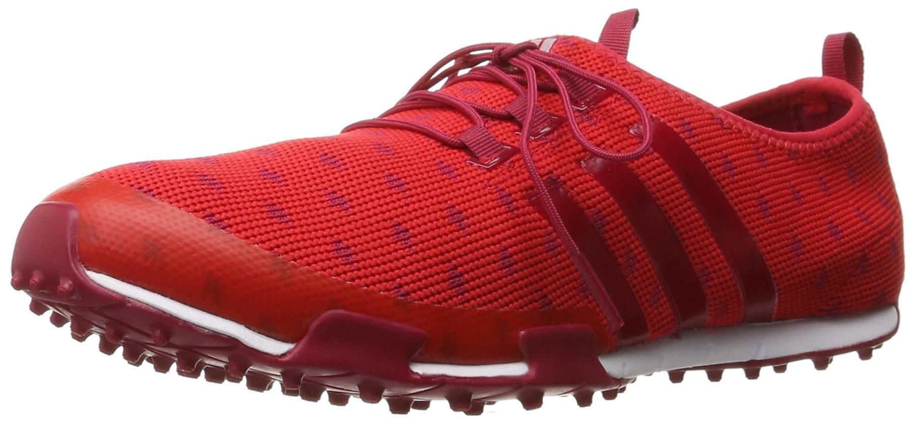 adidas Women's Ballerina Primeknit Golf Shoe, Ray Red/Unity Pink/Unity Pink F, 8.5 M US