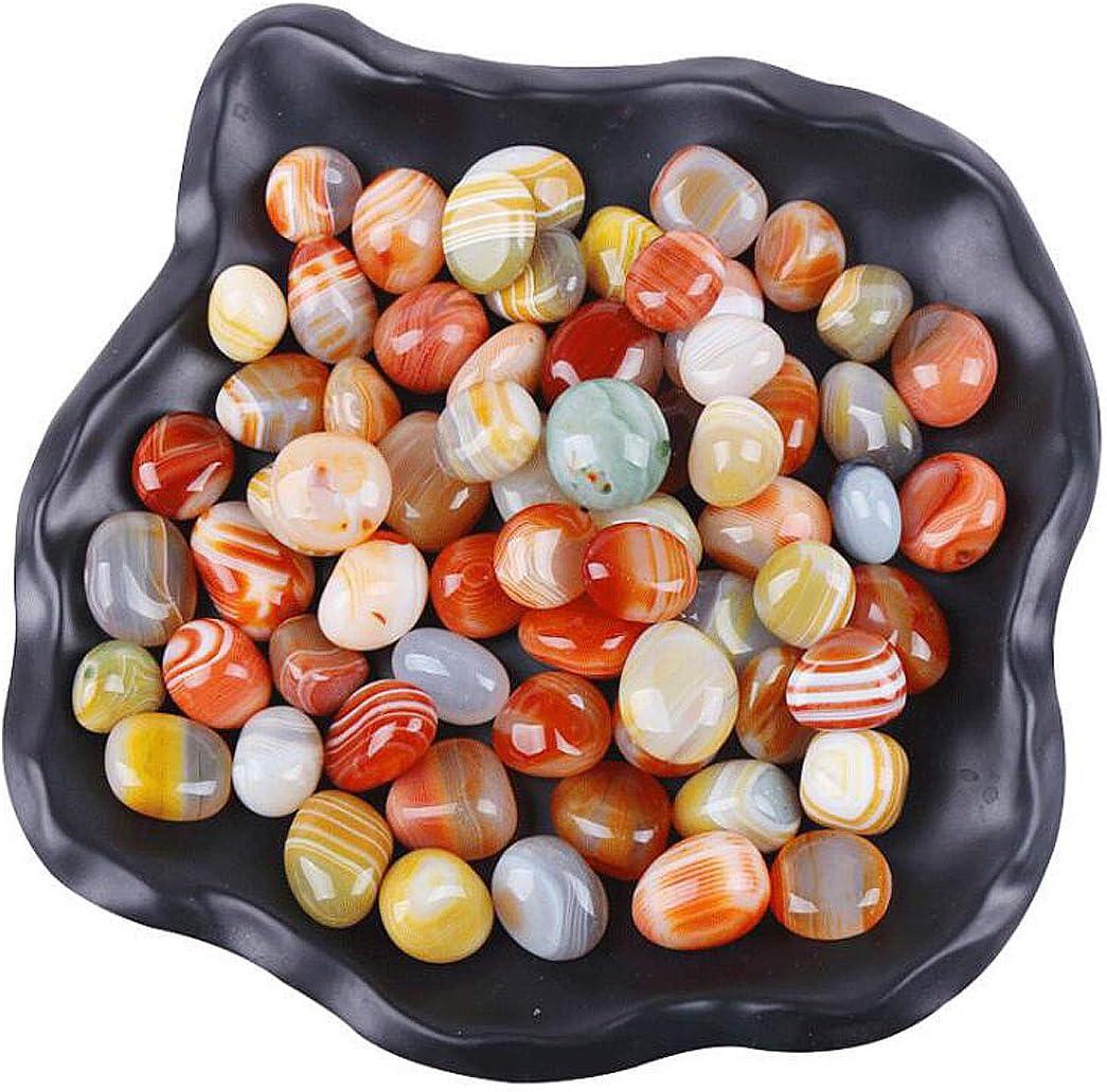 OBTANIM Colorful Aquarium Glass Stone Bulk 1.1 LB Bright Natural Pebbles Beads Gems Marbles Gravel Rock for Aquarium, Fish Tank, Garden, Vase Fillers, Succulent Plants Decor