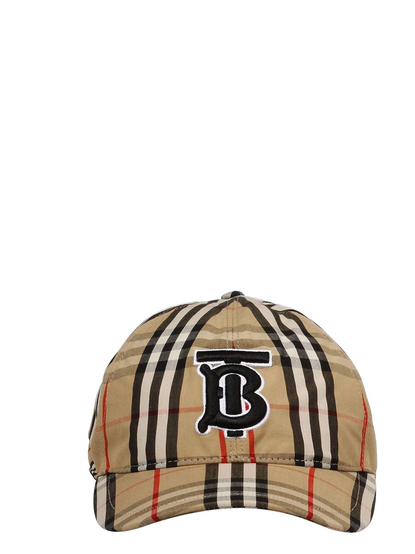 Burberry 8017283 - Gorro de algodón para Hombre, Color Beige ...