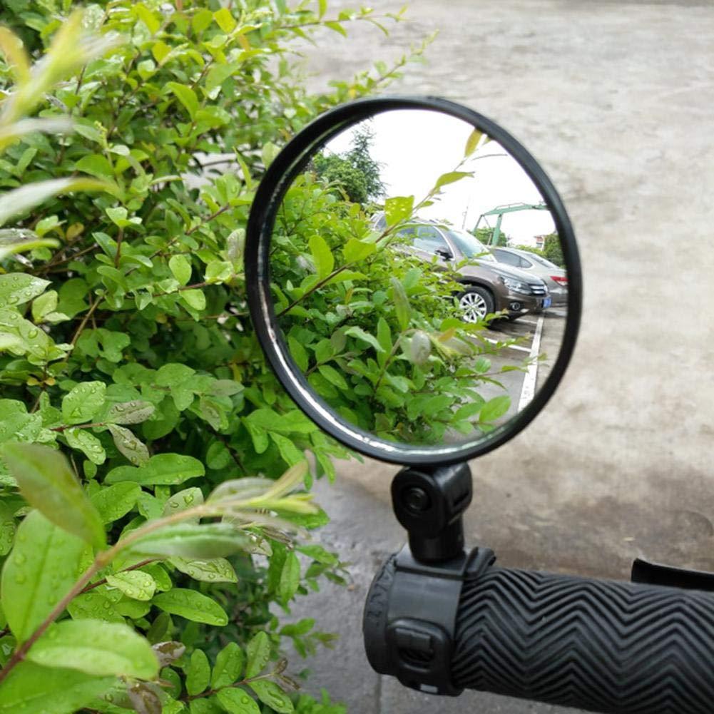 TARTIERY Espejo Retrovisor De Bicicleta Espejo Retrovisor De Bicicleta Manillar Ciclismo Ajustable Espejos Retrovisores De Seguridad Flexibles Accesorios para Bicicletas