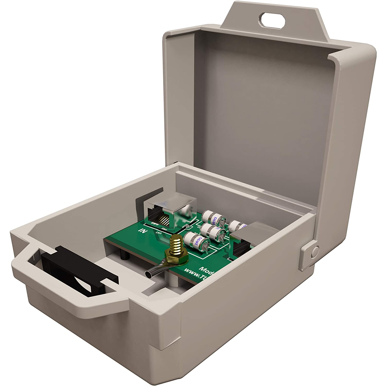 R/éseau LAN de Thunder Foudre Parasurtenseur Protection//Arrester ext/érieure Gigabit 1000Mbs Tupavco TP303 Ethernet Surge Protector pour PoE