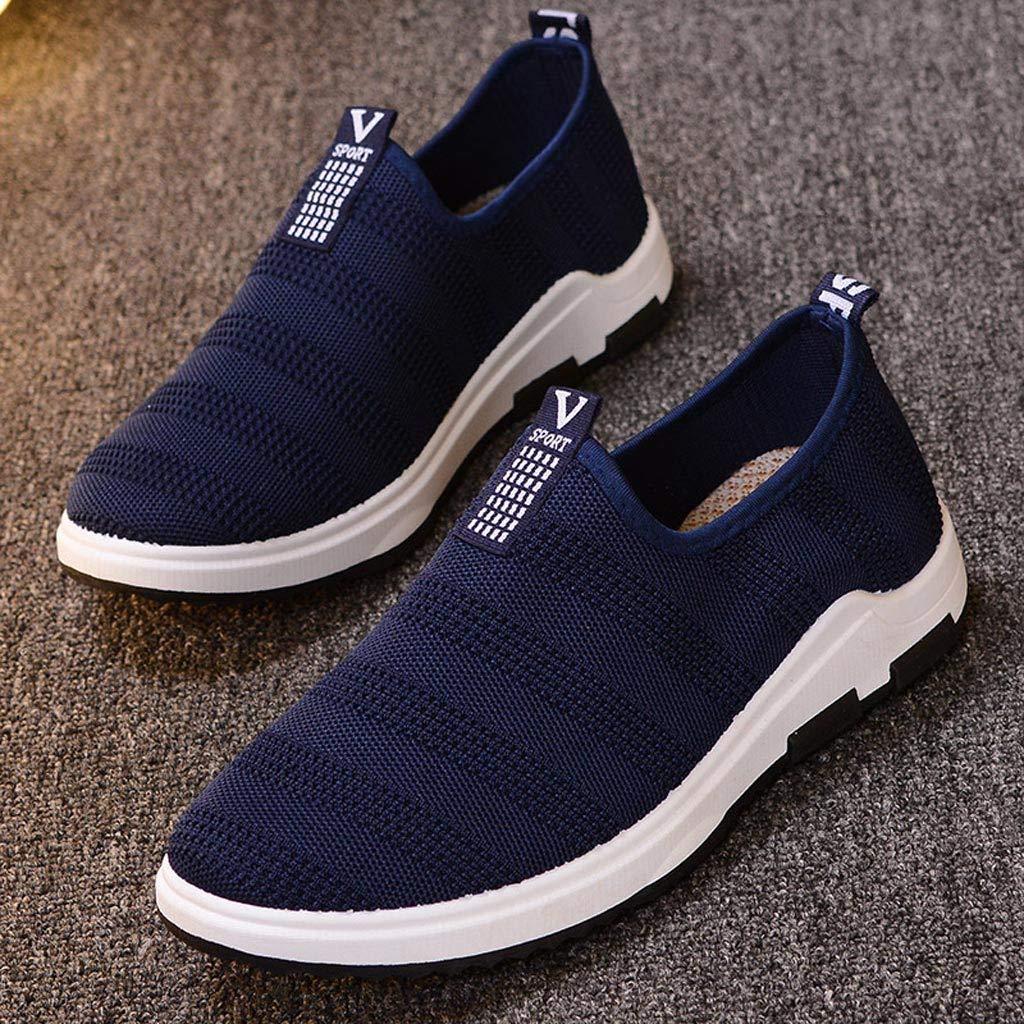 HCFKJ Zapatillas De Deporte Zapatos Planos Ocasionales De Malla Transpirable De Verano para Hombre Zapatillas C/óModas Antideslizantes