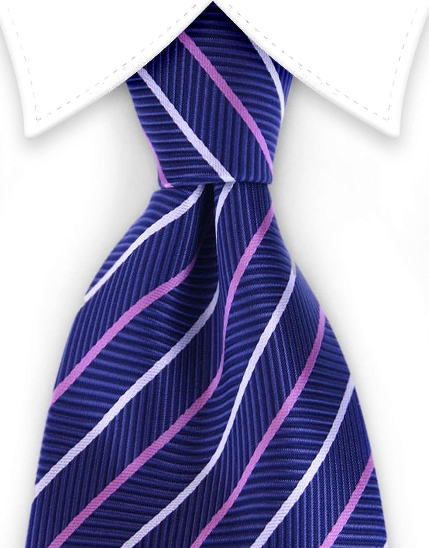White Striped Tie Multicolored Diamond Bailey Blue Pink