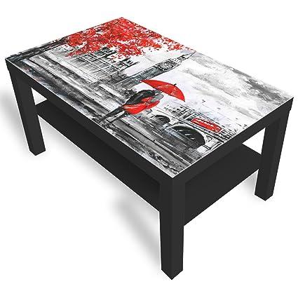 Ikea Tavolino Lack Misure.Dekoglas Ikea Lack Tavolino Da Salotto Con Piano In Vetro