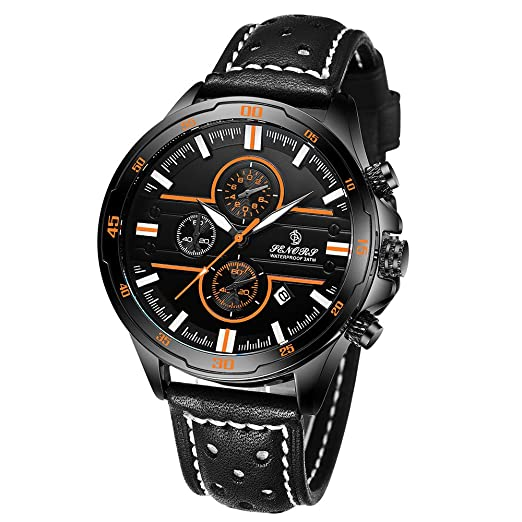 JiaMeng Reloj Multifuncional Resistente al Agua de los Cuarzo del Reloj del Cuarzo de la Correa del Reloj de los Deportes de los 30M (A): Amazon.es: Ropa y ...