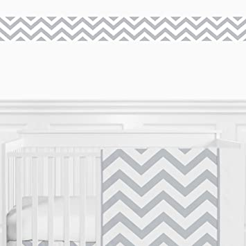 Amazon Com Sweet Jojo Designs Gray And White Chevron Zig Zag Modern Wall Paper Border Baby