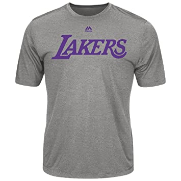 699e43557 Los Angeles Lakers Majestic NBA  quot Never Give Up quot  Men s Synthetic T- Shirt