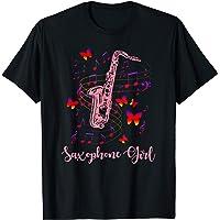 Saxofonista Chica Regalo Instrumento Musical Mujeres Saxofón Camiseta