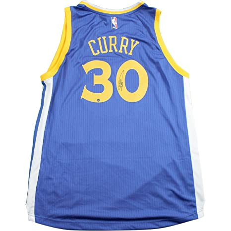 345dd32cc1a Image Unavailable. Image not available for. Color: Stephen Curry Signed  Golden State Warriors Blue Adidas Swingman Jersey