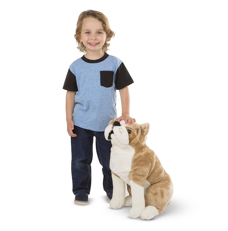 Lifelike Stuffed Animal nearly 2 feet tall Melissa /& Doug Giant English Bulldog 4865