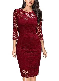 d65e9e869 Lylafairy Vestido De Encaje Mujer Bodycon Vestidos Fiesta Gala para ...