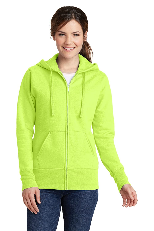 XXL Port /& Company LPC78ZH Ladies Hooded Sweatshirt Neon Yellow