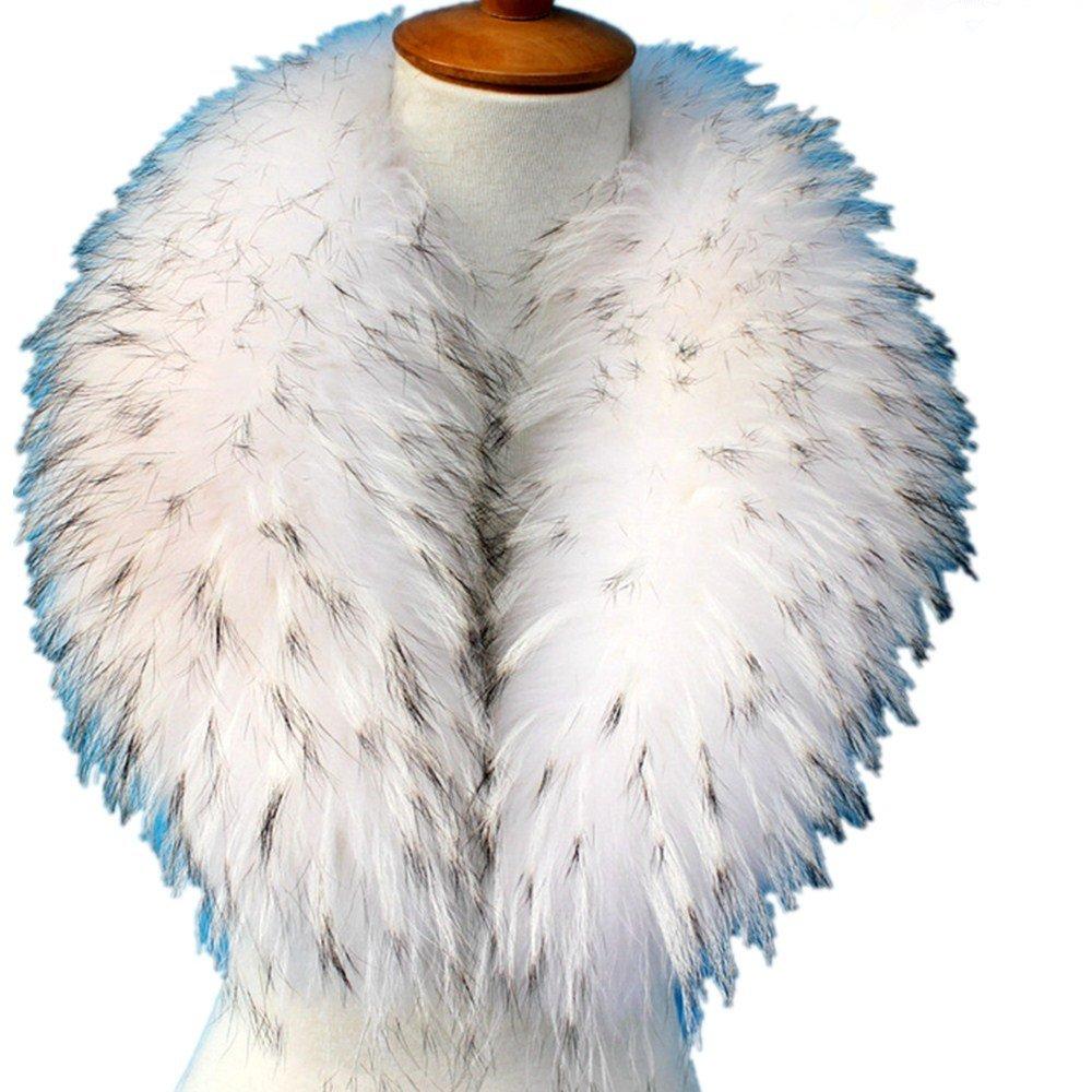 真アライグマ毛皮の襟マフラー生きgegefur女子6色 B01DG5LD10 80cm|ホワイト ホワイト 80cm