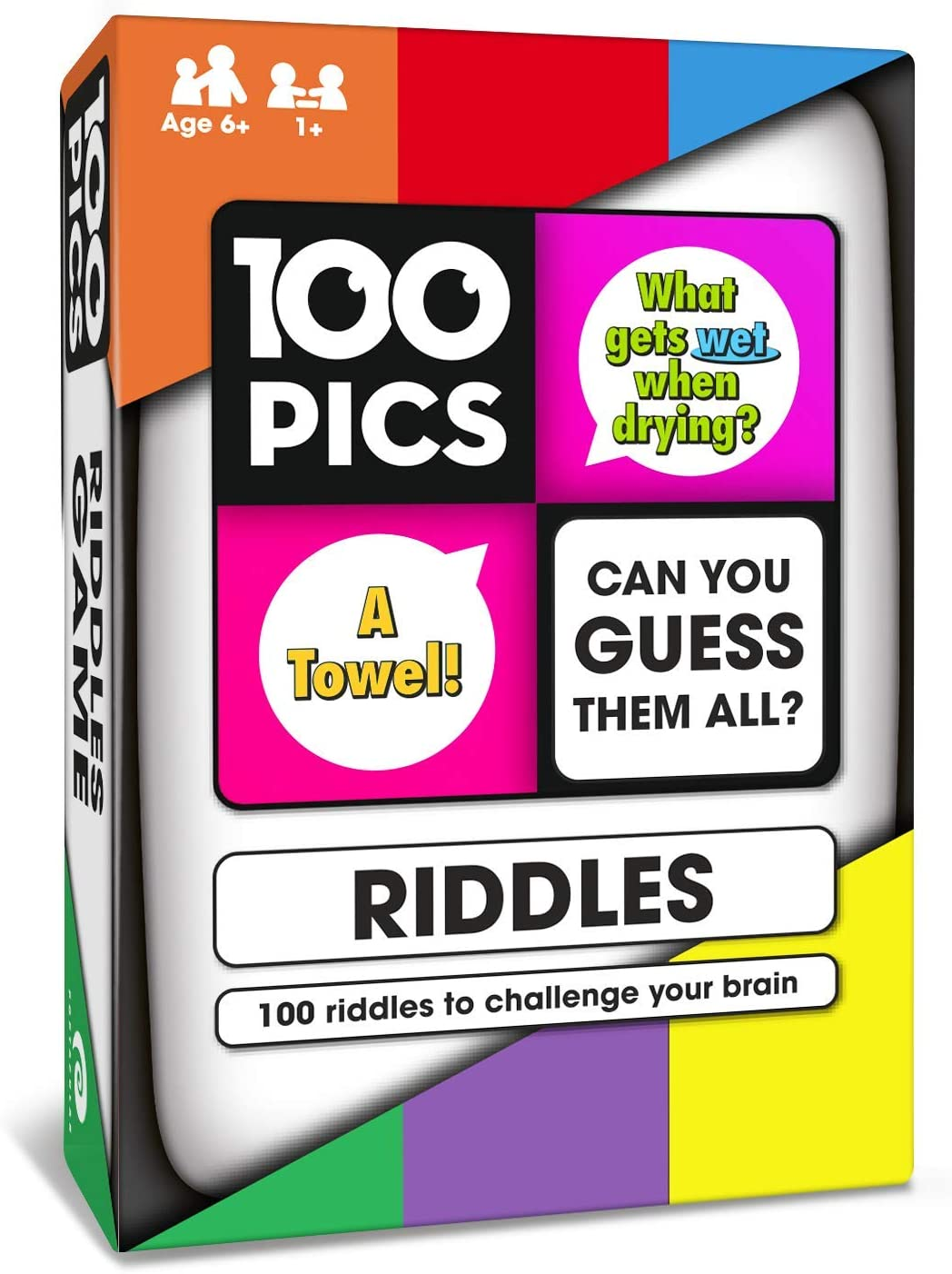 100 PICS Riddles Travel Game - Family Brain Teasers | Pocket Puzzles for Kids and Adults