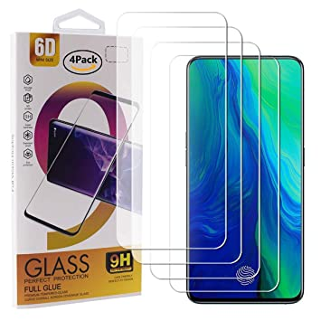 Guran 4 Paquete Cristal Templado Protector de Pantalla para OPPO ...