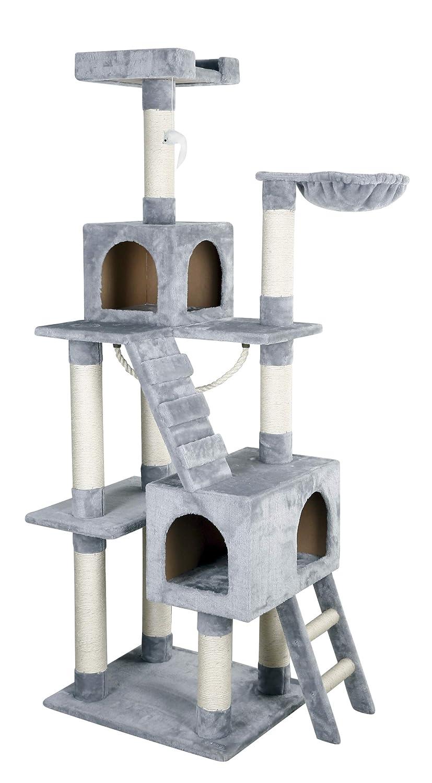Kerbl Square Cat Tree, 59 x 50 x 178 cm, Grey