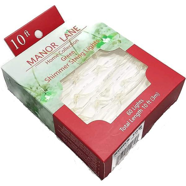 Details about  /NEW Manor Lane 10 ft Shimmer String Acorn AND Oak Leaves Flexible LED Lights