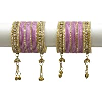 MUCH MORE Royal Dangle Look Charm,ing Bangles Set for Women Wedding Jewelry