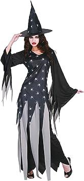 Disfraz bruja mujer Halloween Talla única: Amazon.es: Juguetes y ...