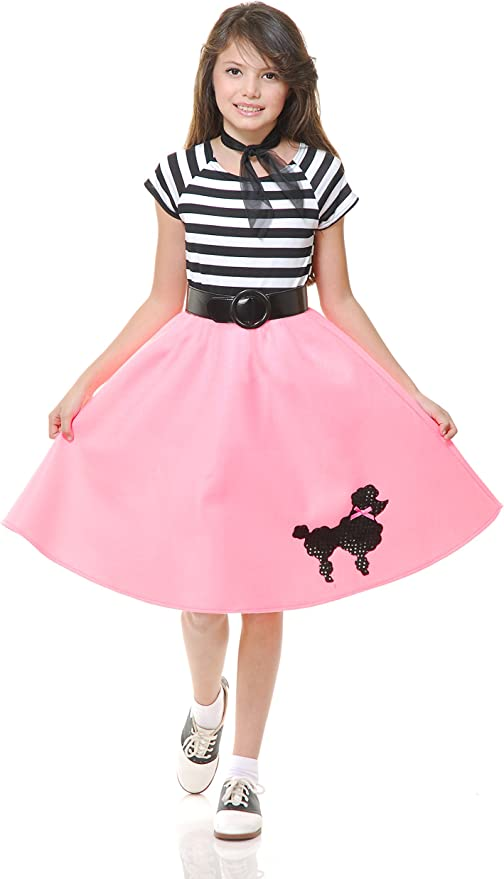 Vintage Style Children's Clothing: Girls, Boys, Baby, Toddler Charades Childs Poodle Skirt Pink Small $18.44 AT vintagedancer.com