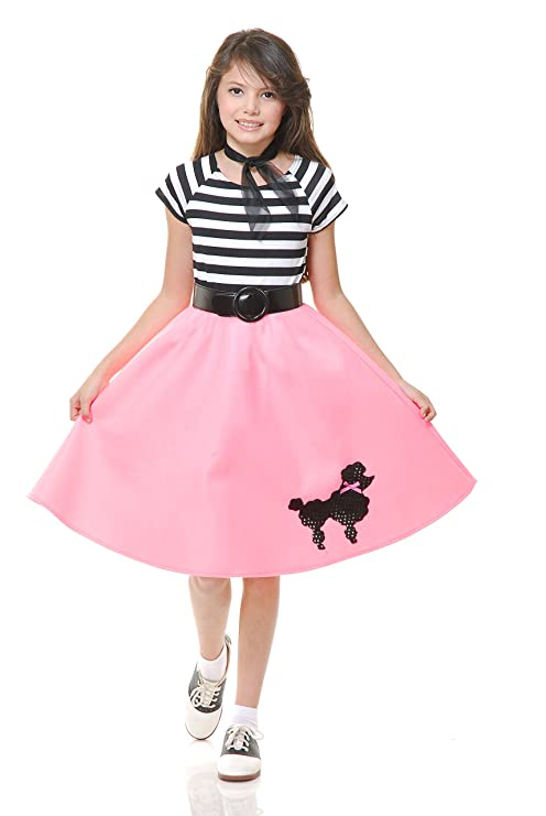 e37a596c57663 Image Unavailable. Image not available for. Color: Charades Child's Costume  Poodle Skirt ...