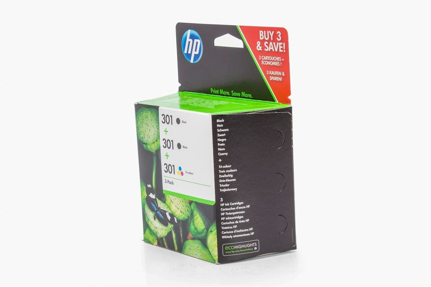 Hp - 301 Ink Cartridge 3-Pack: Amazon.es: Informática