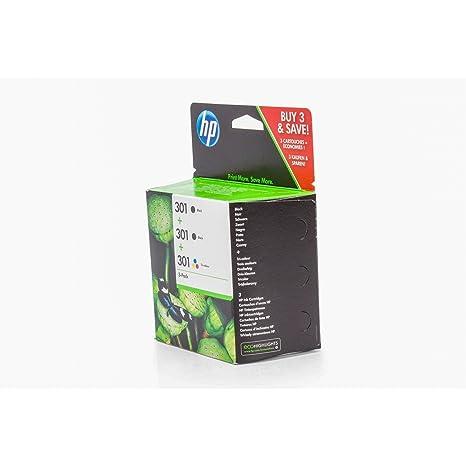 Hp - 301 Ink Cartridge 3-Pack: Amazon.es: Informática