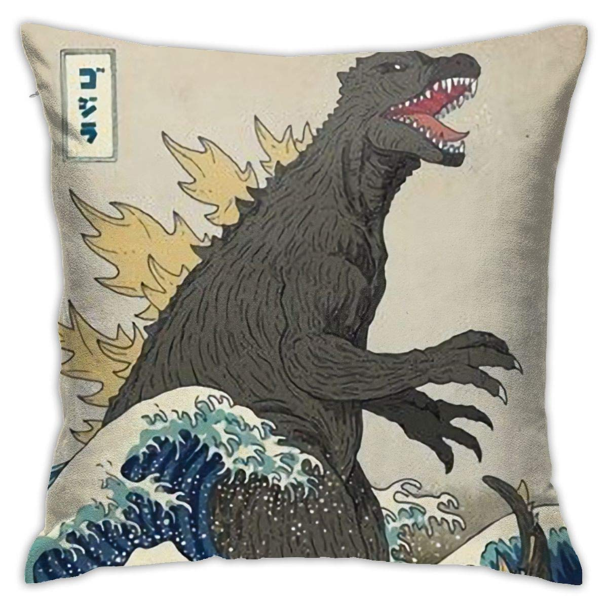 Bedding Soft and Comfortable Sleep Pillowcase Quality Gift Green Deer The Great Godzilla Off Kanagawa Funny Pillowcase Invisible Zipper