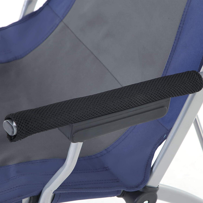 Azul Oscuro y Gris GCB11QG Silla para Exteriores con Asiento Amplio y C/ómodo Estructura Resistente Capacidad de Carga M/áxima de 150 kg SONGMICS Silla de Camping Plegable