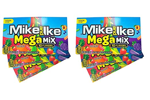Mike and Ike Mega Mix Chewy Fruit - Cañas de sabor a fruta ...